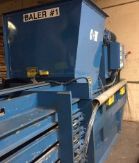 C&M Horizontal Closed Door Baler with Gaylord Cart Dumper